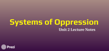 Systems of Oppression front